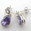 Fashion 925 Sterling Silver Cubic Zircon Earrings (China)