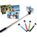 Wire Control Extendable Selfie Handheld Monopod Stick Holder for iPhone Samsung (Mainland China)