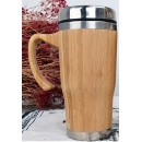 Bamboo Mug with Stainless Steel inside and Lid (kong do hong)