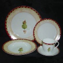 Tea Set with Chrismas Tree Pattern (Hong Kong)